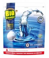 Billes Bio 6 mm - G&G - 0,25g - 4000 unités - Airsoft