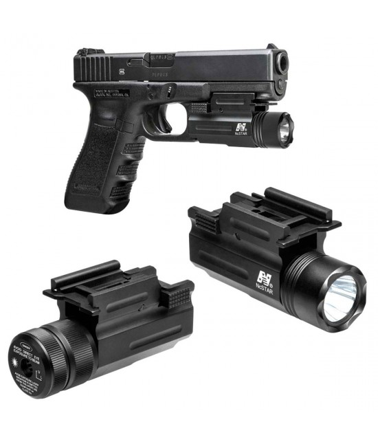Combo lampe tactique 200 LM Laser Rouge