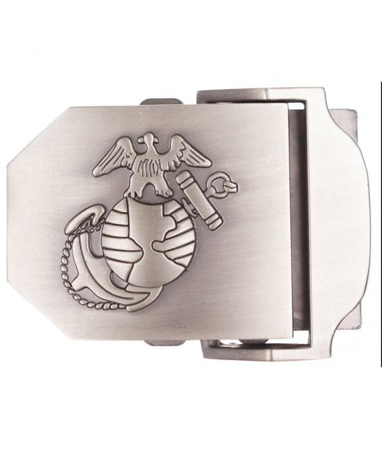 Boucle de ceinture USMC Argent