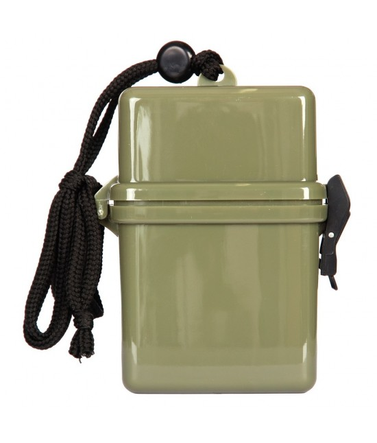 Boite Etanche en plastique avec lanière de cou - Kaki - 469487