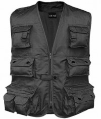 GILET MULTIPOCHES REPORTER ANTI-TRANSPIRANT - Noir