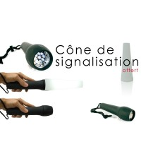 LAMPE TORCHE 9 LED - CONE SIGNALISATION
