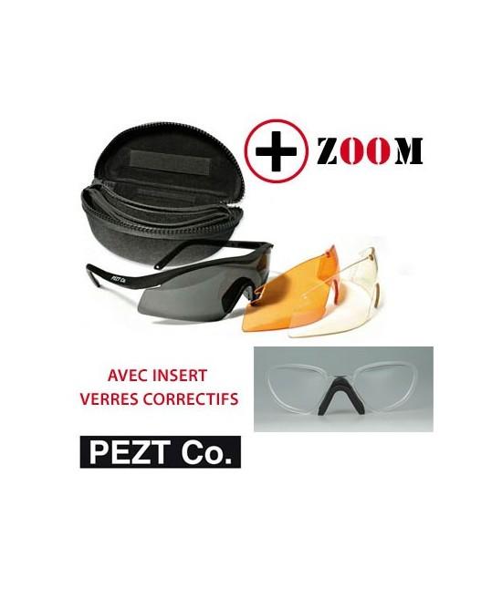 LUNETTES TACTIQUES PEZT CO. ® STORM + INSERT