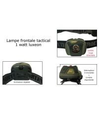 LAMPE FRONTALE TACTICAL - 1 WATT LUXEON