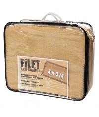 FILET ANTI CHALEUR 4 X 4 M SABLE