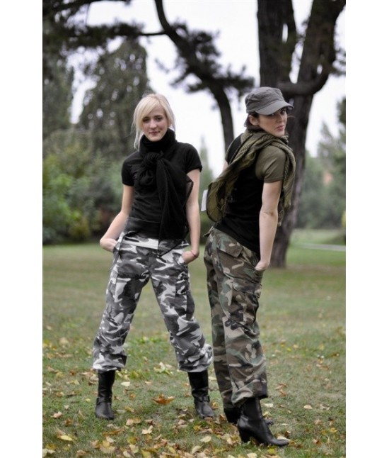 PANTALON US BDU RIPSTOP WOODLAND - WOMAN