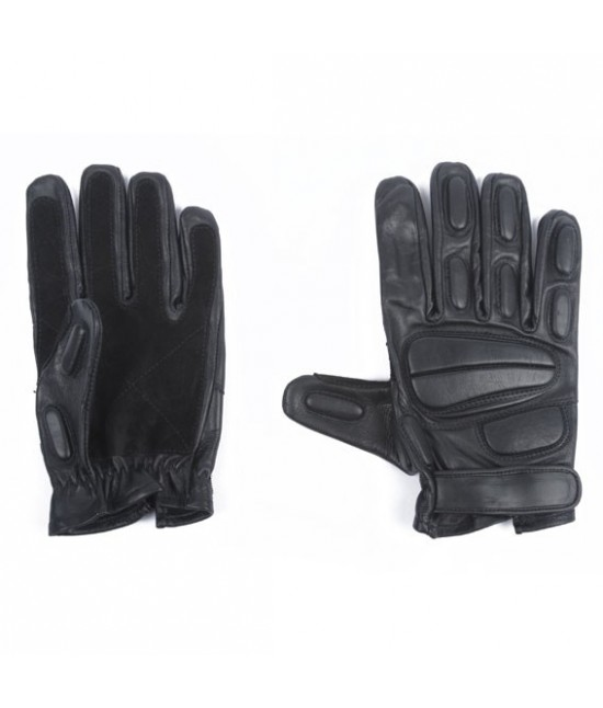 GANTS INTERVENTION - CUIR NOIR