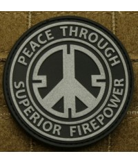 PATCH VELCRO PEACE THROUGH