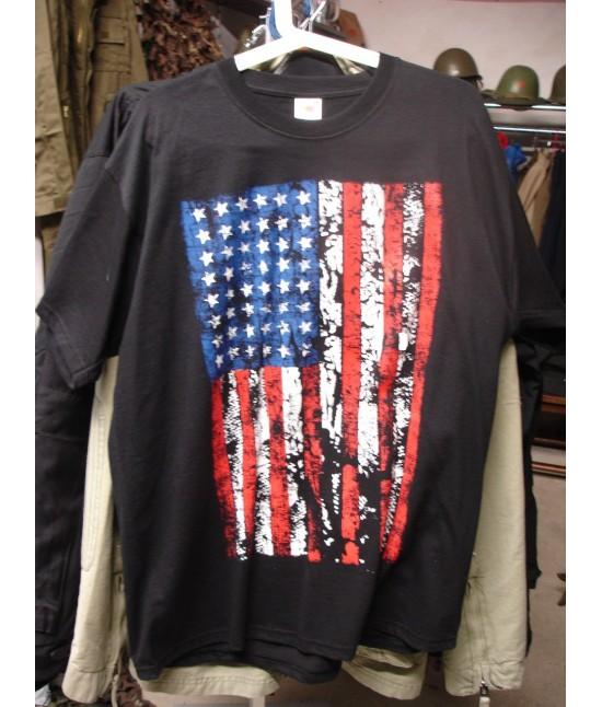T SHIRT USA FLAG