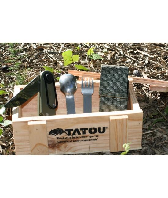 Couteau Tatou ® dans son coffret bois