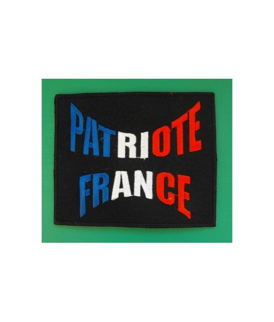 ÉCUSSON PATRIOTE FRANCE