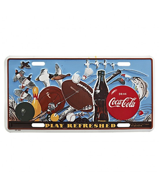 PLAQUE IMMATRICULATION COCA COLA