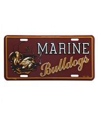 PLAQUE IMMATRICULATION MARINE BULLDOG