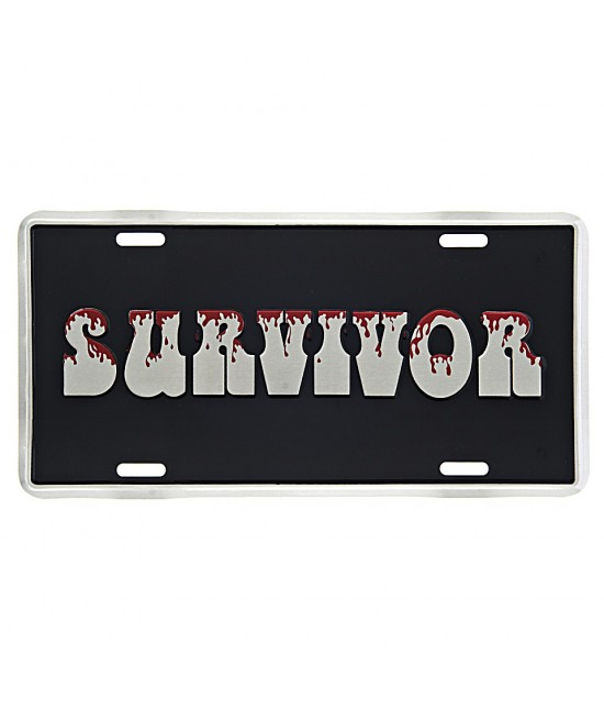 PLAQUE IMMATRICULATION SURVIVOR
