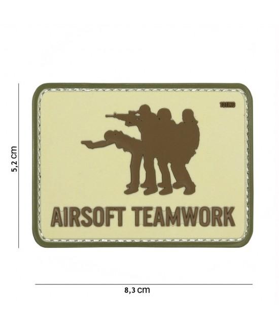 Patch 3D Airsoft Teamwork Désert