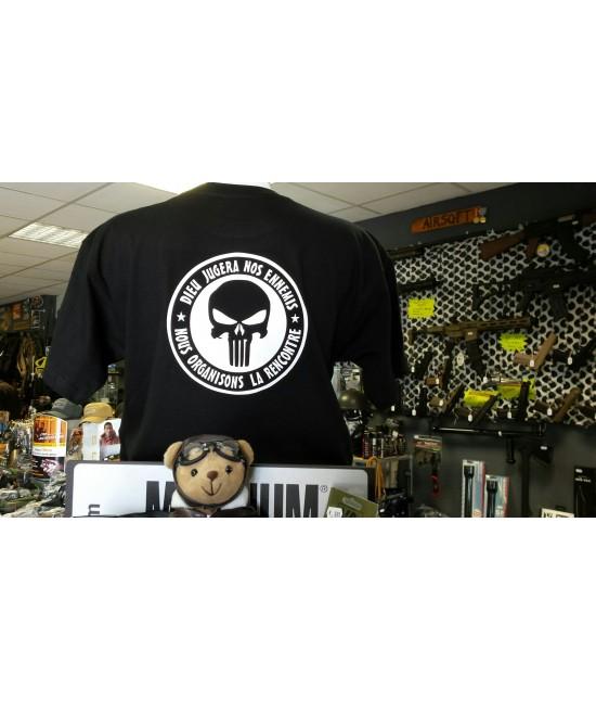 Tshirt Punisher Noir - Dieu jugera nos Ennemis