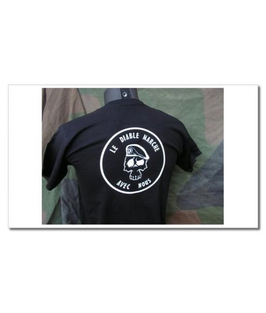 TShirt noir - Le Diable marche avec nous
