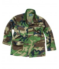 VESTE KIDS TYPE BDU - WOODLAND