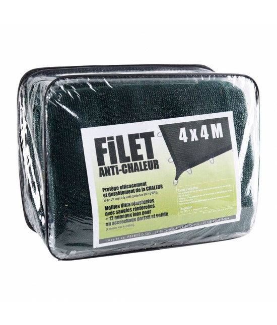 FILET ANTI CHALEUR 3,60 X 3,60 M