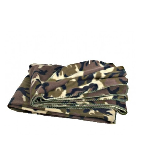 Couverture plaid Polaire Camo Woodland