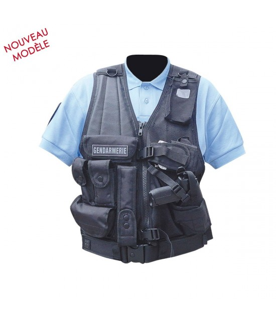 Gilet Forces Intervention avec Holster pour PA ou Taser