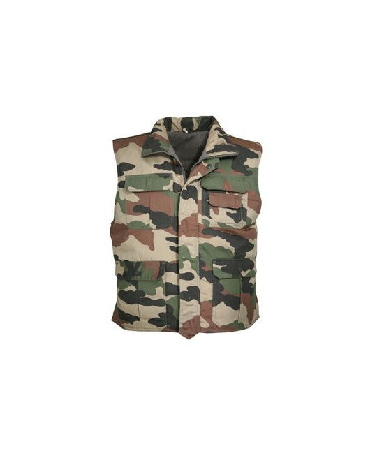GILET MILITAIRE MULTIPOCHES - CAMO CE