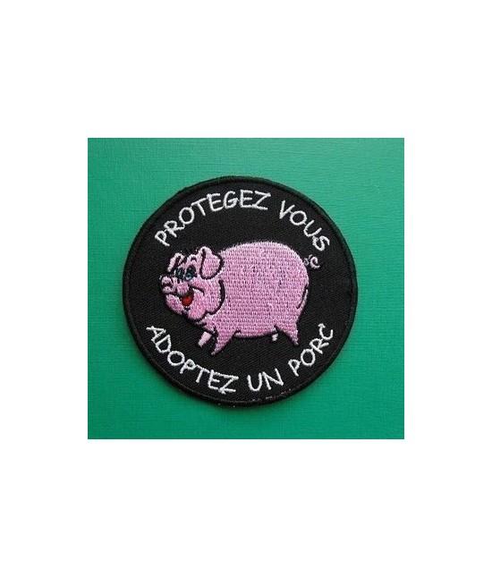 Patch Protégez-vous Adoptez un Porc