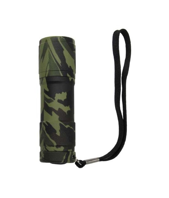 LAMPE TORCHE ALLIGATOR 9 LED - CAMO