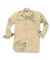 CHEMISE TROPICALE BEIGE - Manches longues