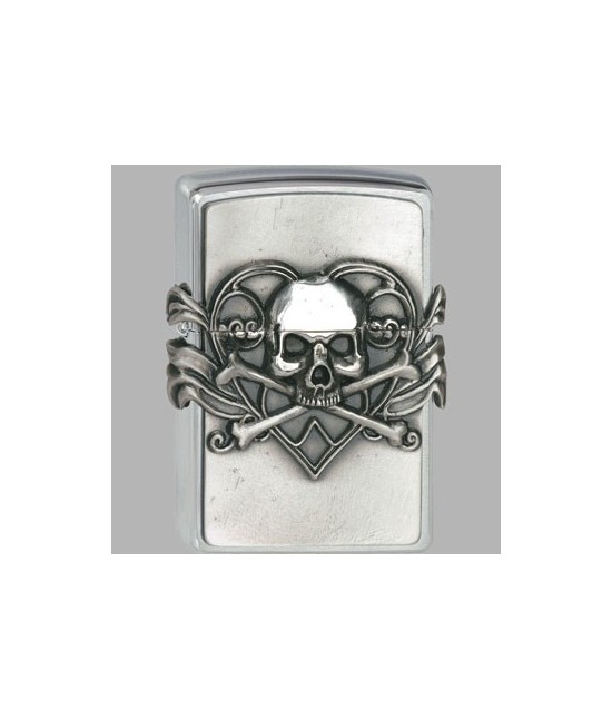 BRIQUET SKULL HEART