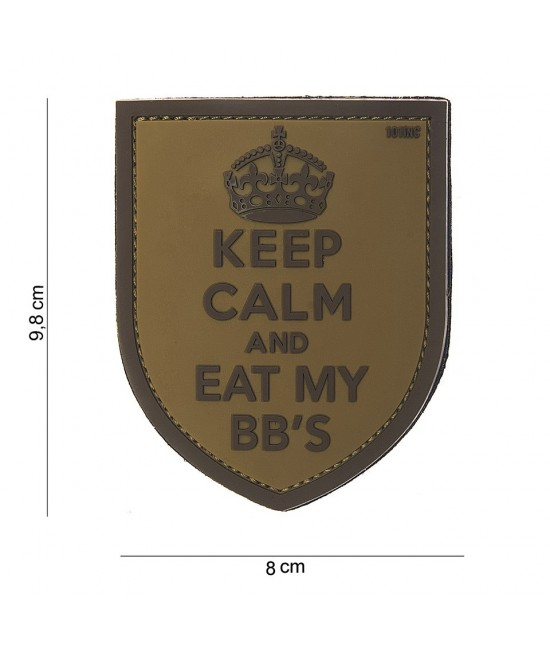 PATCH KEEP CALM & EAT MY BB'S
