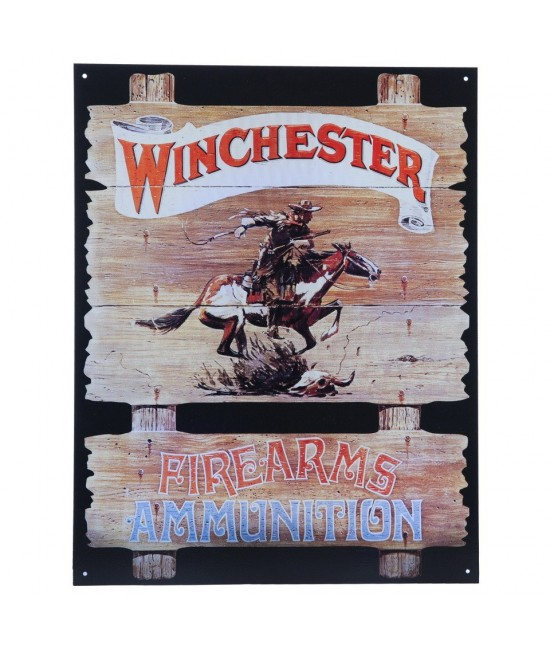 PLAQUE EN METAL - WINCHESTER FIREARMS