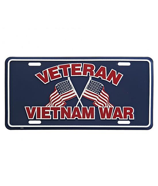 Plaque Immatriculation Veteran Vietnam War