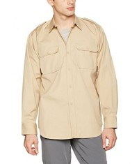 CHEMISE TROPICALE RIPSTOP - BEIGE - Manches longues