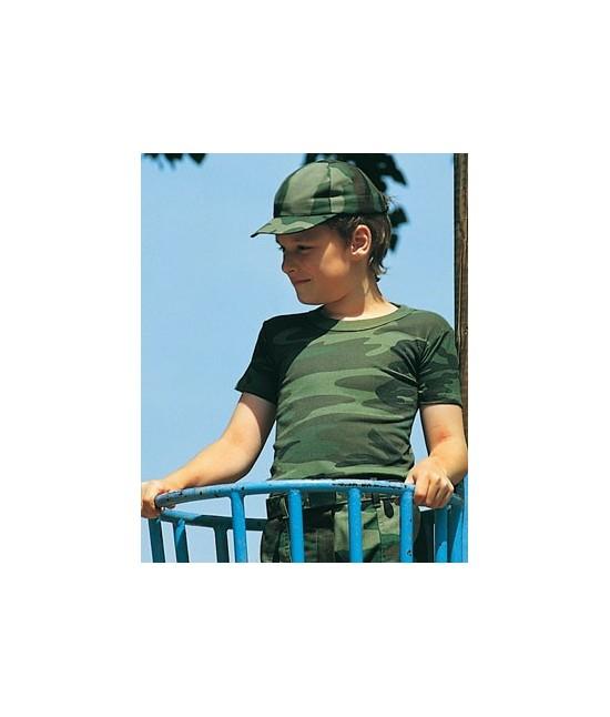 TSHIRT KIDS ARMY - WOODLAND